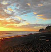 Playa Hermosa Puntarenas Costa Rica - Sunset A One Poster