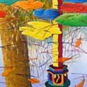 Playful Pond Poster