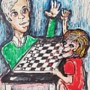 Playing Checkers Poster