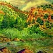 Plein  Air Of Eagle River Poster