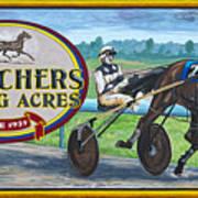 Pletchers Racing Mural Shipshewana Poster