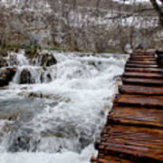 Plitvice Lakes Boardwalk Poster