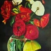 Plum Ranunculus Poster by Dana Redfern