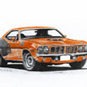 Plymouth Barracuda 1973 Hemi Cuda Poster