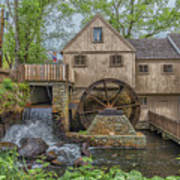 Plymouth Grist Mill Poster