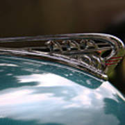 Art Deco Plymouth Hood Ornament Poster