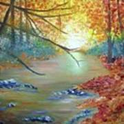 Pocono Creek In Autumn Poster