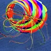 Poetry Of Kite Swirls Poster