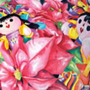 Poinsettia Christmas Poster