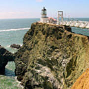 Point Bonita Lighthouse In Marin County California Poster