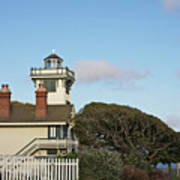 Point Fermin Light - An Elegant Victorian Style Lighthouse In Ca Poster