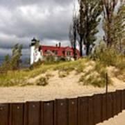 Pointe Betsie Lighthouse Poster