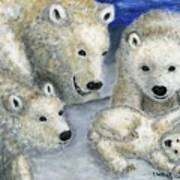 Polar Bears At Play In The Arctic Poster