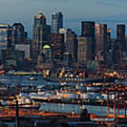 Polar Pioneer Docked In Seattle Poster