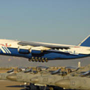 Polet Antonov An-124 Ra-82080 Taking Off Phoenix-mesa Gateway Airport January 15 2011 Poster