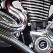 Polished Motorcycle Chrome Poster
