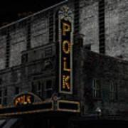 Polk Movie House Poster by David Lee Thompson