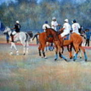 Polo Horses Painting Poster