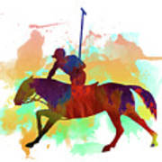 Polo Player Poster