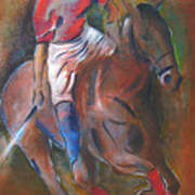 Polo Player Poster by Vered Thalmeier