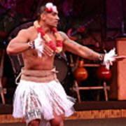 Polynesian Warrior Dancer Poster