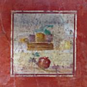 Pompeii Pomegranate Still Life Fresco 1 Poster