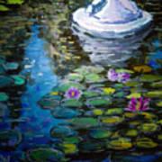 Pond In Monet Garden Poster