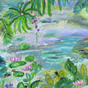 Pond In The Morning Poster