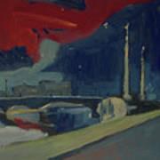 Pont Fragnee In Liege Poster