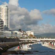 Ponta Delgada Waterfront Poster
