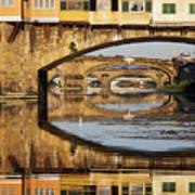 Ponte Vecchio Crossing The River A Poster