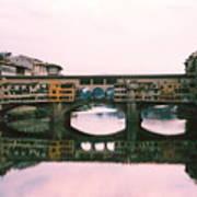 Ponte Vecchio Sunset Photograph Poster
