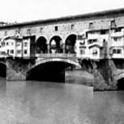Ponte Vicchio Bridge In Florence Italy - C 1905 Poster