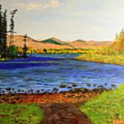 Pontoosuc Lake Pittsfield Massachusetts Poster