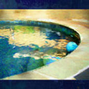 Pool With Blue Ball Poster