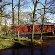 Poole Forge Covered Bridge Poster