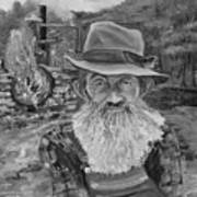 Popcorn Sutton - Black And White - Rocket Fuel Poster