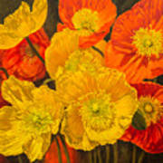 Iceland Poppies 2 Poster