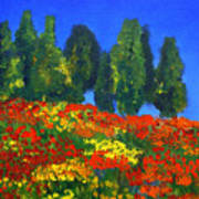 Poppies Landscape Poster