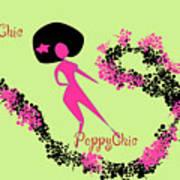 Poppy Chic Dance Poster