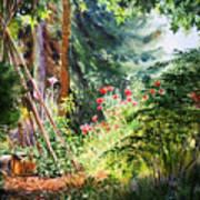 Poppy Garden Landscape Poster
