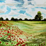 Poppy Meadow Poster