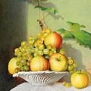 Porcelain Fruit Bowl Poster