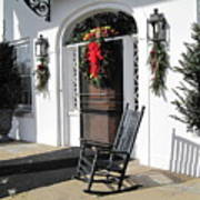 Porch At Boone Hall Plantation Charleston Sc Poster
