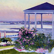 Porch At Sunet Poster