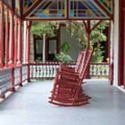 Porch With Rocking Chairs Poster