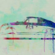 Porsche 356 Watercolor Poster
