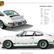 Porsche 911 Carrera Rs Illustration Poster