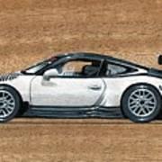 Porsche 911 Gt3r On Wood Poster