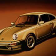 Porsche 911 Turbo 1976 Painting Poster